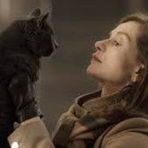 Isabelle Huppert and her lovely cat